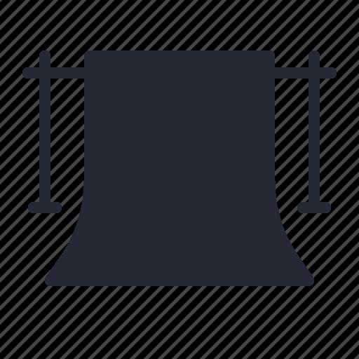 background, infinite, production, studio, white icon