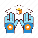 cyberspace, gloves, reality, virtual, vr icon