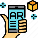 application, ar, augmented reality, innovation, virtual reality icon