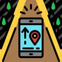 ar, augmented reality, innovation, navigation, virtual reality icon