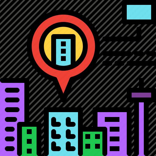 ar, augmented reality, city, innovation, virtual reality icon