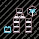ar, blocks, building icon