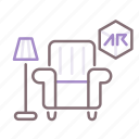 ar, decoration, house icon