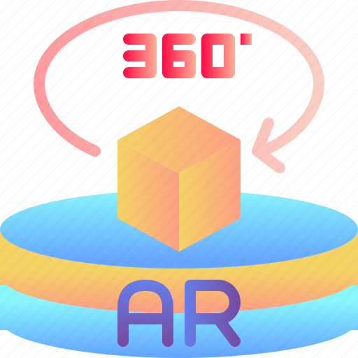 ar, augmented reality, degree, innovation, virtual reality icon