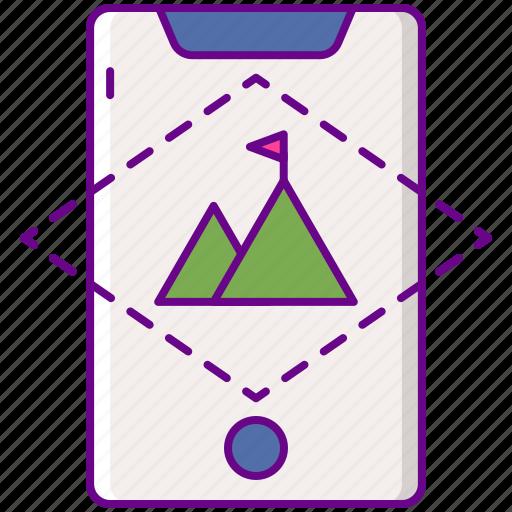 adventure, ar, augmented icon