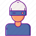 ar, augmented, helmet icon