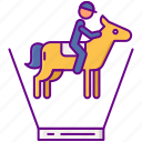 ar, horse, riding icon