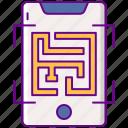 ar, augmented, maze icon