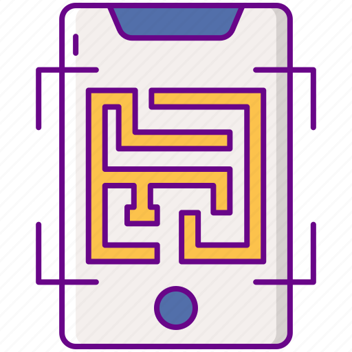 Ar, augmented, maze icon - Download on Iconfinder