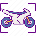 ar, motorbike, riding icon