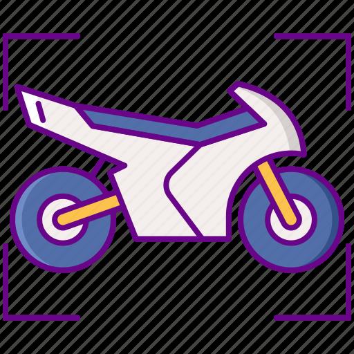 ar, motorbike, riding icon