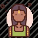 aborigen, ancient, female, indian icon
