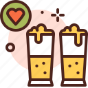 beer, drink, friendship, love icon