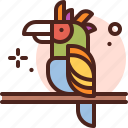 bird, branch, parrot icon