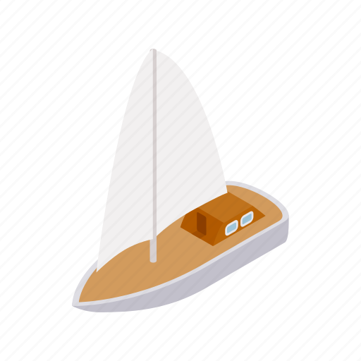 australia, boat, isometric, vectior, water, wind, yacht icon