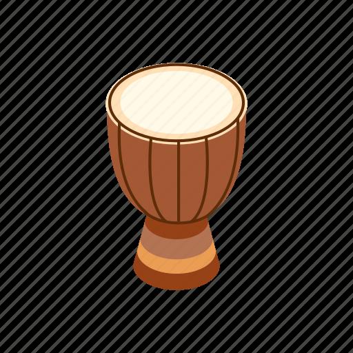 australia, colorful, culture, drum, isometric, percussion, vectior icon