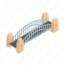 australia, bridge, harbor, harbour, isometric, sydney, vectior icon