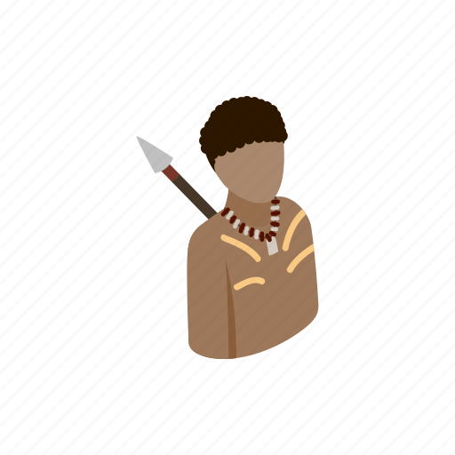 australian, culture, isometric, paint, person, traditional, vectior icon