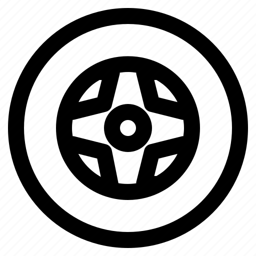 Tire, wheel, car icon - Download on Iconfinder on Iconfinder