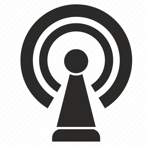 antenna, auto, car, internet, signal icon