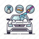 auto, car, home, pipe, service, spa, sponge icon