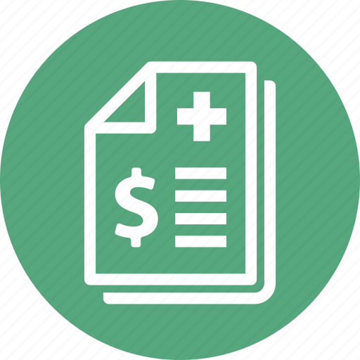 health insurance, insurance coverage, medical bill, medical payment icon