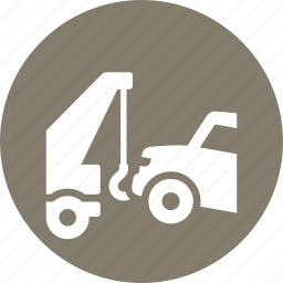 auto insurance, car tow, truck, vehicle icon