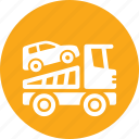 auto insurance, car insurance, roadside assistance, row truck icon