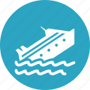 boat, cargo, marine insurance, ship, watercraft icon