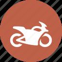 motorbike, motorcycle insurance, transport icon