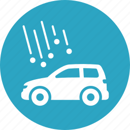 auto insurance, car insurance, hail, vehicle icon