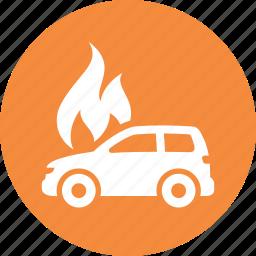 auto insurance, car insurance, fire insurance, flame icon