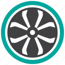 alloy wheel, rim, wheel icon