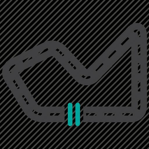 race, racetrack, racing, track icon