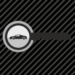 auto, automobile, car, key, lock icon