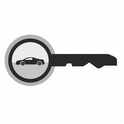 auto, automobile, car, key, lock icon
