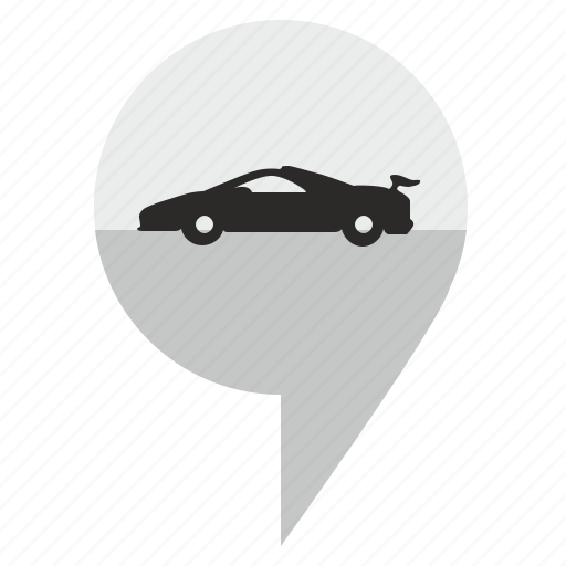 auto, car, geo, location, pointer icon