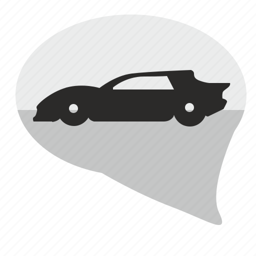 auto, car, comment, dialog, message, muscle icon