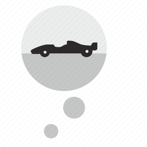 auto, car, comment, dream, formula, race, think icon