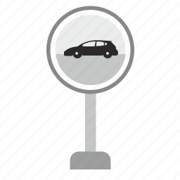 auto, car, danger, forward, pointer, road, sign icon