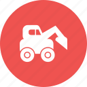 construction, dumper, equipment, excavator, machinery, truck, work icon
