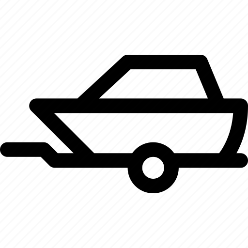 automobile, boat, car, trailer, transport, vehicle icon