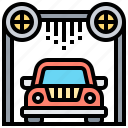 car, clean, drying, system, wash icon