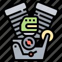 drive, engine, horsepower, piston, turbine icon