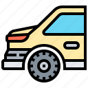 car, rear, taillight, trunk, wheel
