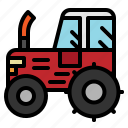 agriculture, farm, tractor, transportation icon
