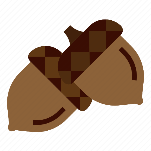 Acorn, autumn, chestnut, fall, oak, seed icon - Download on Iconfinder