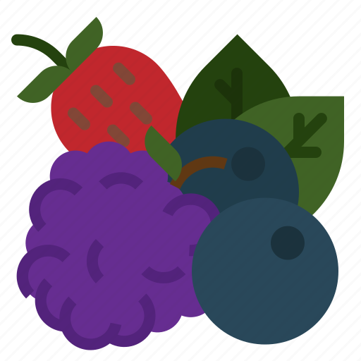 berries, berry, blueberry, food, fruit, gastronomy icon