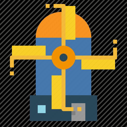Engine, mill, turbine, wind, windmill icon - Download on Iconfinder