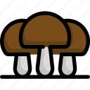 autumn, garden, gardening, mushroom, season, weather icon